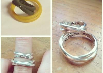 Fedine con nome personalizzato. / Personalized name rings.
