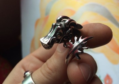 Anello con dragone cinese. / Chinese dragon ring.