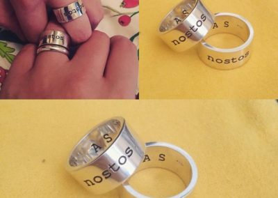 Anelli Nostos. / Nostos rings.