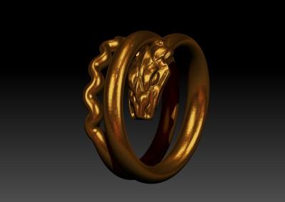 Antico anello con serpente. / Antique snake ring.