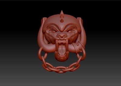 Anello con simbolo Motörhead. / Motörhead ring.