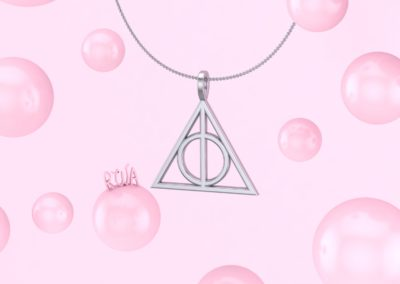 Pendente simbolo Harry Potter. / Harry Potter pendant.
