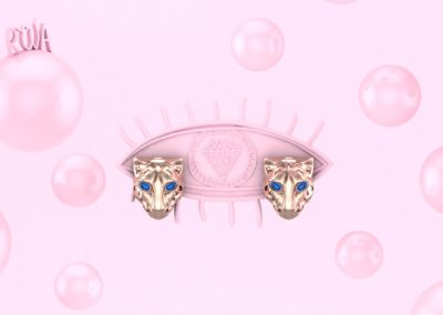 Orecchini con pantera. / Panther earrings.