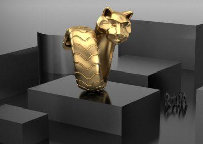 Anello pantera. / Panther ring.