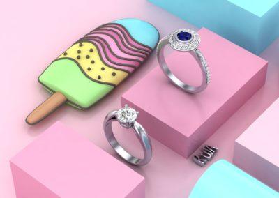 Anelli di fidanzamento fantasia. / Fanstasy Engagement rings.