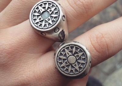 Anelli a sigillo per il mio giorno di S.Valentino. / This is for My Valentine's day in sterling silver 925.