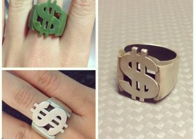 Anello con simbolo del dallora. / $ ring.